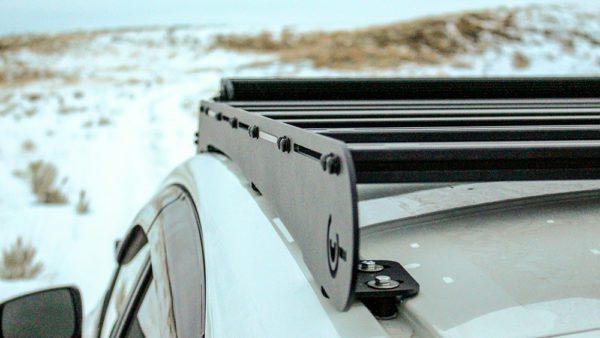 detail of the subaru roof rack